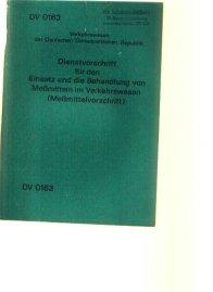 DV 0163 Dienstvorschrift für den Einsatz und: Deutsche Reichsbahn