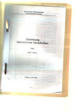 Deutsche Reichsbahn Reichsbahndirektion Schwerin Sammlung betrieblicher Vorschriften: Deutsche Reichsbahn