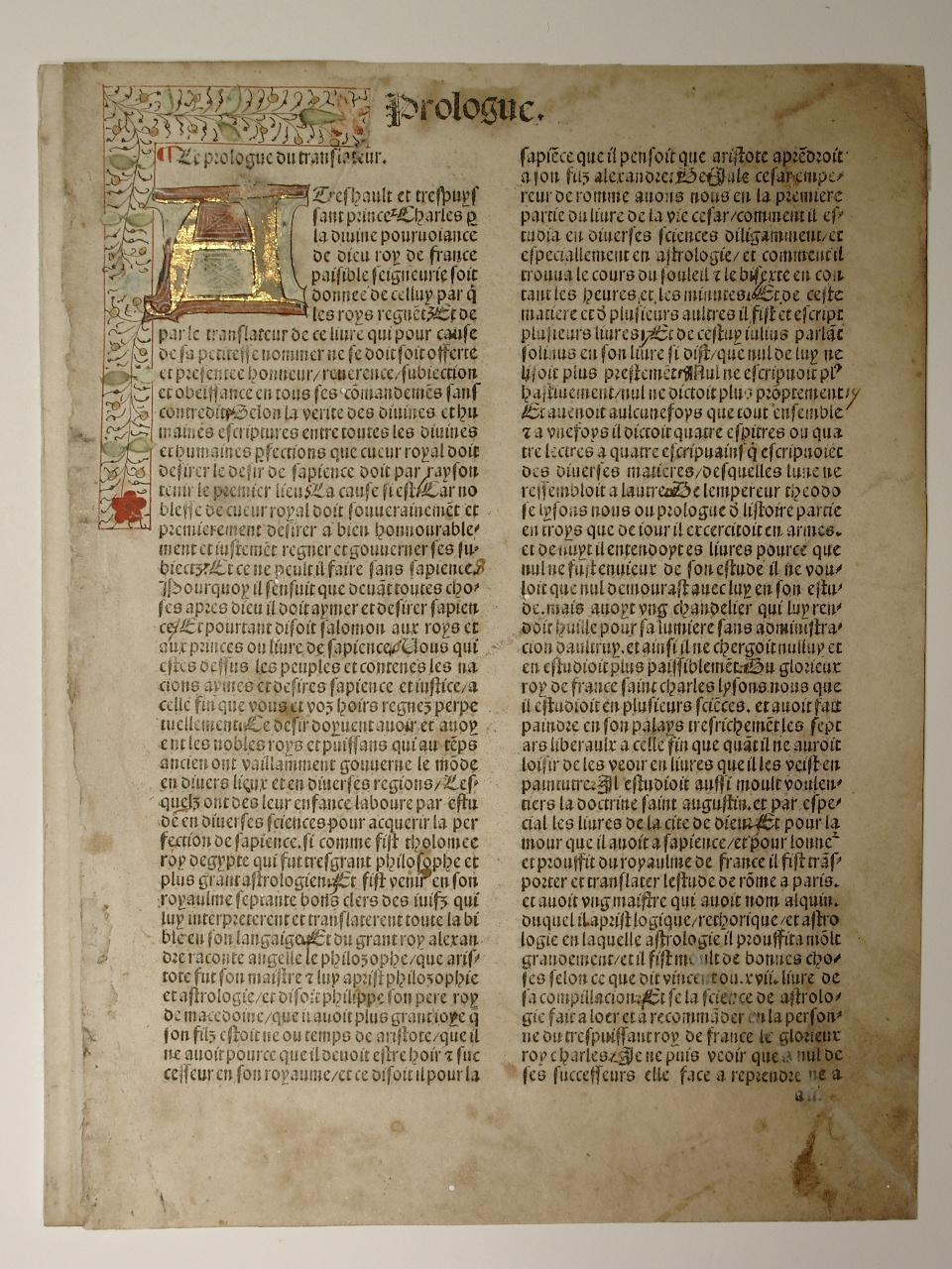 De proprietatibus rerum, franz. von Jean Corbichon.: Bartholomaeus Anglicus: