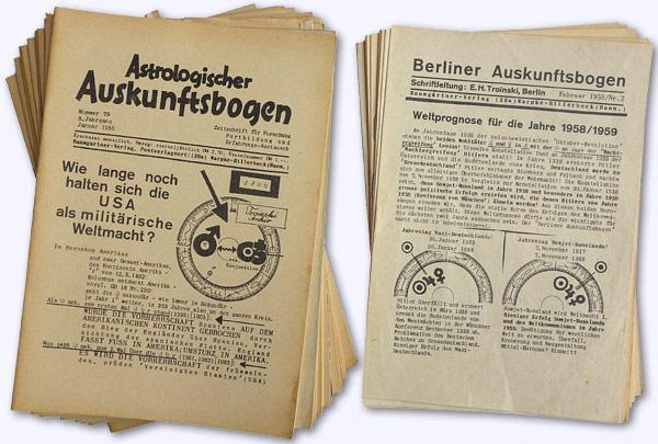 Astrologischer Auskunftsbogen. 8. Jhg. 1958, Nr. 79: Baumgartner, Hans; Hrsg.]: