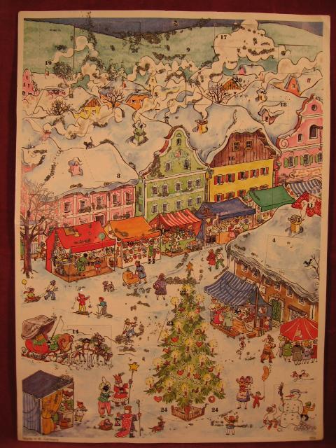Adventskalender Christkindelmarkt.: Hinderks-Kutscher, Rotraut: