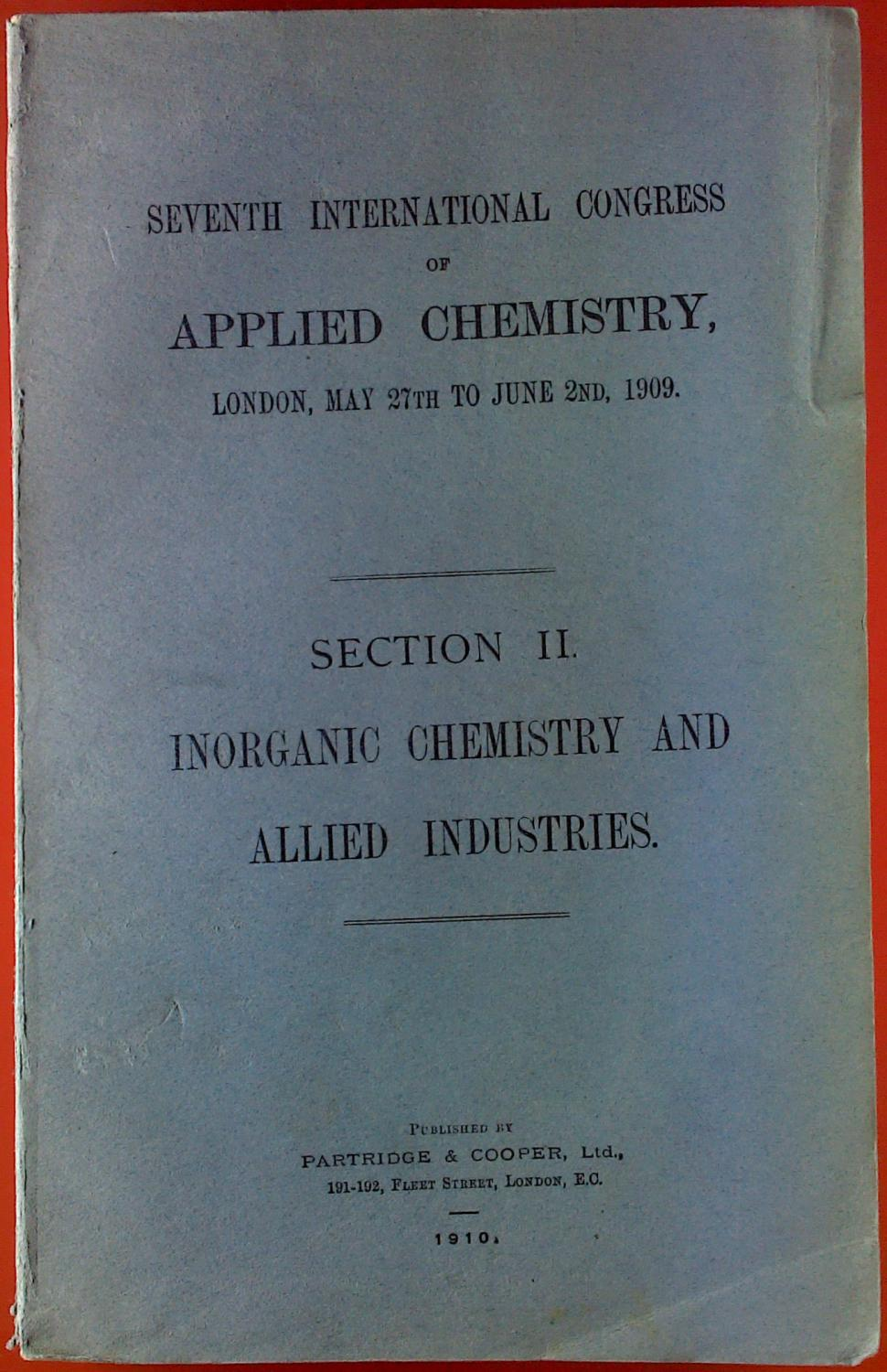Inorganic Chemistry and Allied Industrie. Section II.: Sir William Ramsay