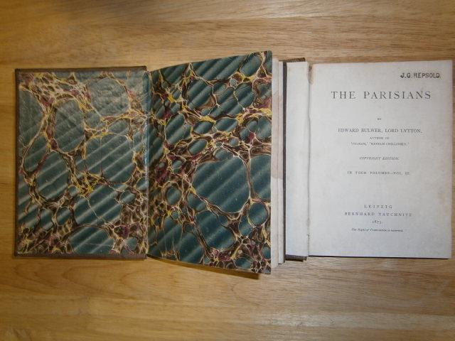 The Parisians. Copyright edition. In four volumes.: Bulwer, Edward, Lord