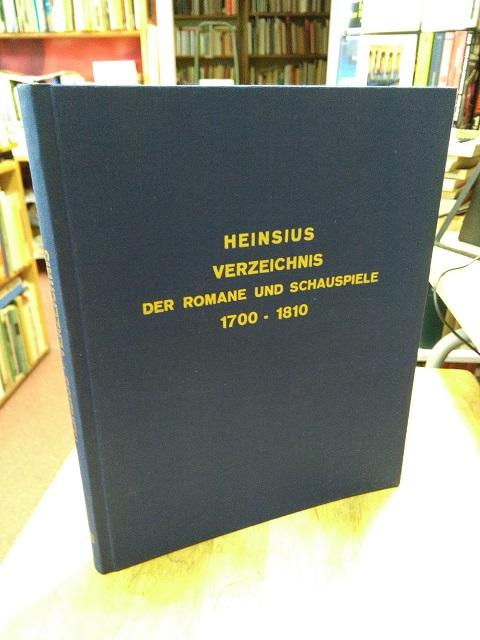 Alphabetisches Verzeichnis der von 1700 bis zu: Heinsius, Wilhelm,