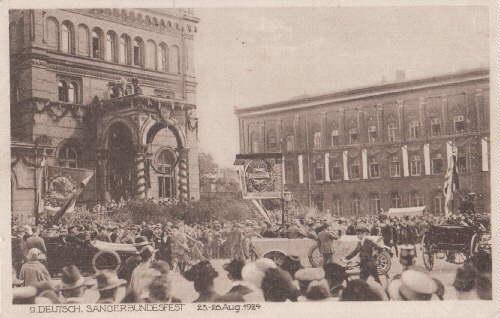 9. Deutsch. Sängerbundfest 23.-26.Aug. 1924. Ansichtskarte in: Hannover -