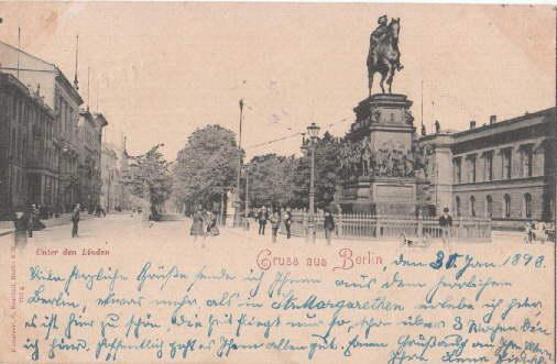 Gruß aus Berlin. Unter den Linden. Ansichtskarte: Berlin -