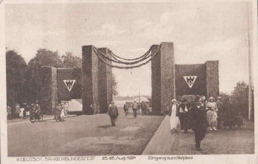 9. Deutsch. Sängerbundfest 23.-26.Aug. 1924. Eingang zum: Hannover -