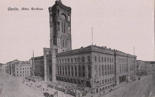 Altes Rathaus. Ansichtskarte in Lichtdruck. Ungelaufen.: Berlin -