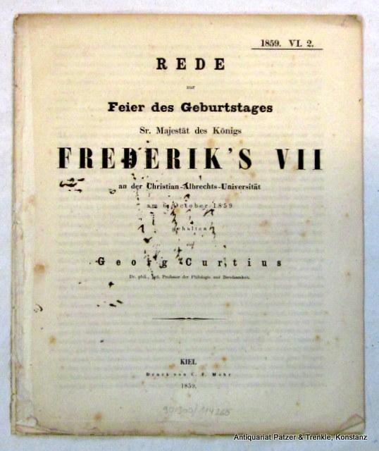 Rede zur Feier des Geburtstages Sr. Majestät: Curtius, Georg.