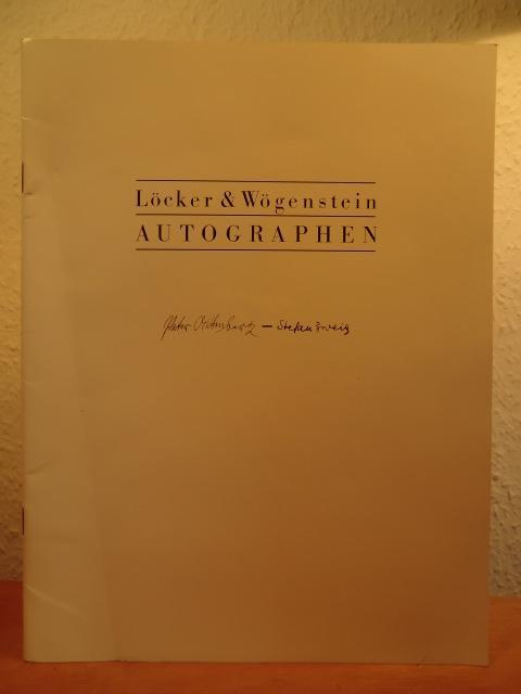 Autographen. Katalog 23: Antiquariat Löcker &