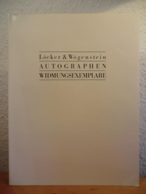 Autographen - Widmungsexemplare. Katalog 20: Antiquariat Löcker &
