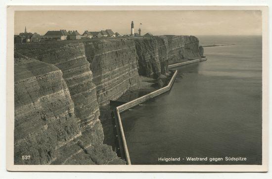 Postkarte: Helgoland - Westrand gegen Südspitze.: Helgoland: