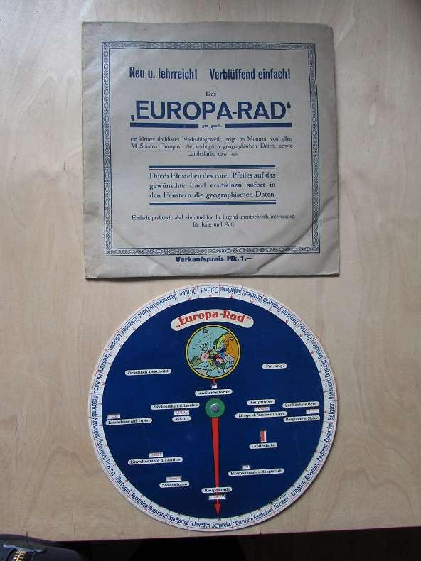 Das Europa-Rad: Herausgeber nicht ersichtlich: