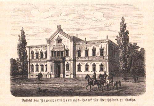 Ansicht der Feuerversicherungs-Bank für Deutschland in Gotha.: Gotha -