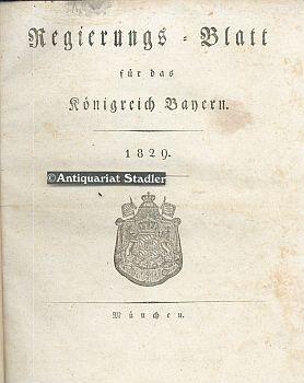 Regierungs=blatt für das Königreich Bayern 1829. No.: Amtsblatt: