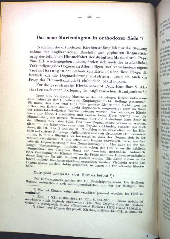Das neue Mariendogma in orthodoxer Sicht; Sonderdruck: Spuler, Bertold: