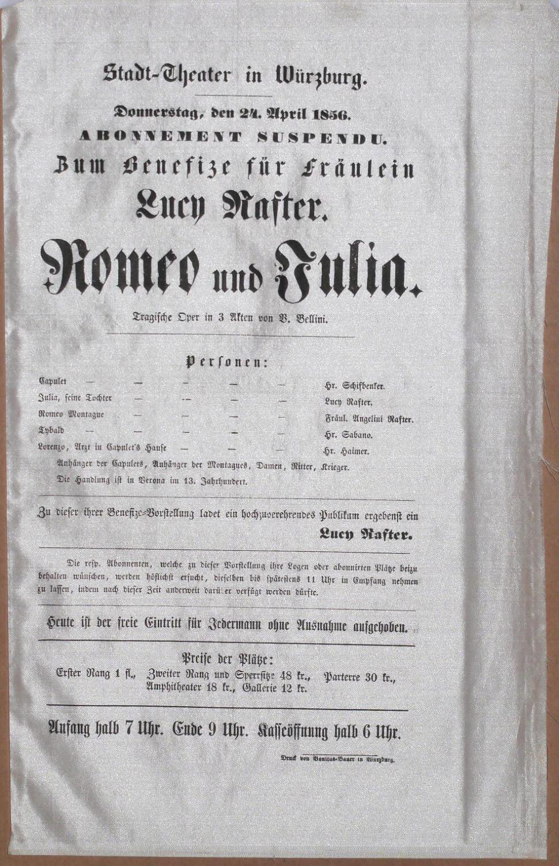 Zum Benefize für Fräulein Lucy Rafter. - Romeo und Julia