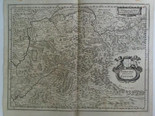 Sabaudia Ducatus. Savoye - Karte, Kupferstich von: Gottfried, Johann Ludwig