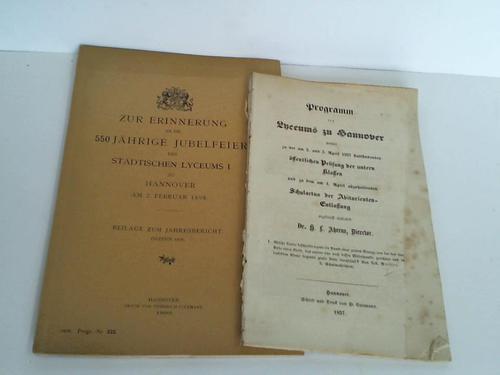 Programm des Lyceums zu Hannover womit zu: Ahrens, H. L.