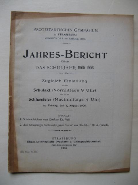 Protestantisches Gymnasium zu Strassburg, gegründet im Jahr: Protestantisches Gymnasium zu