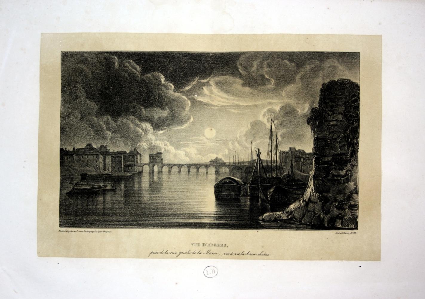 Vue D Angers prise de la rive: Dagnan, Isodore: