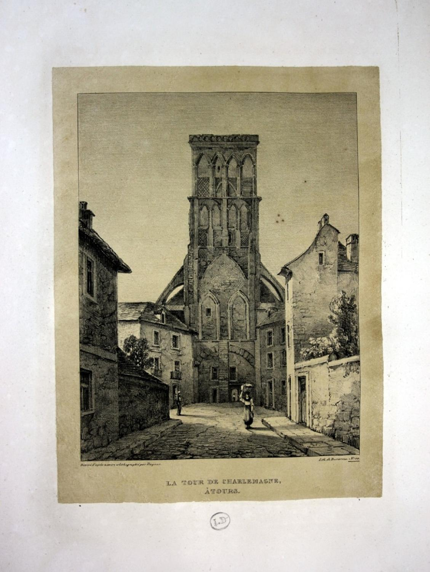 """La Tour de Charlemagne a Tours"""" -: Dagnan, Isodore:"""