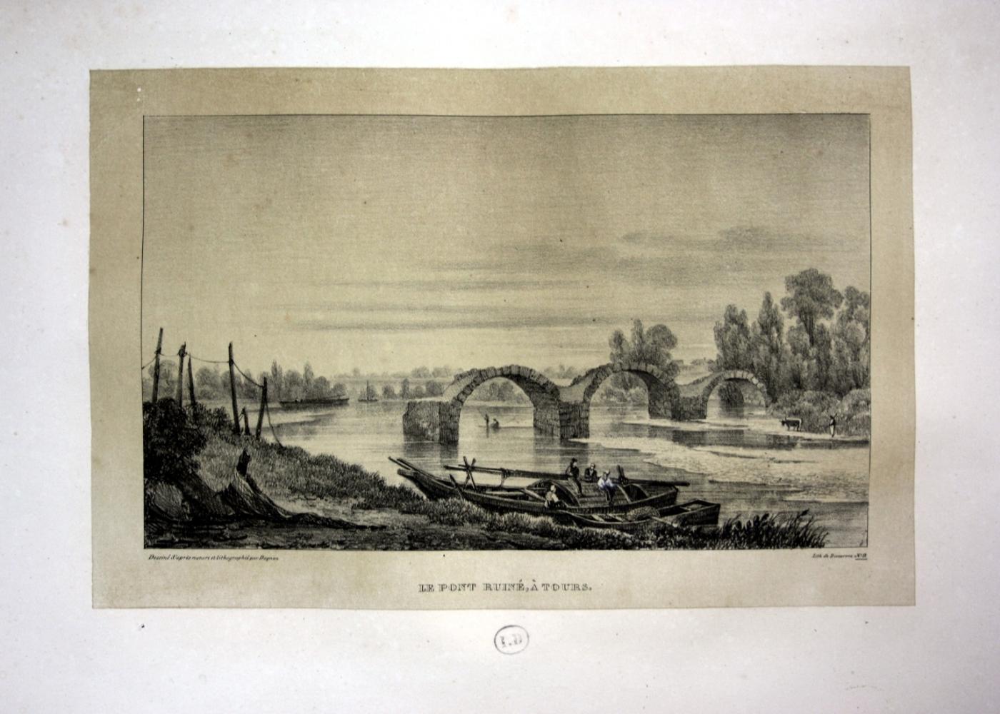 "Le Pont Ruine a Tours"" - Tours: Dagnan, Isodore:"