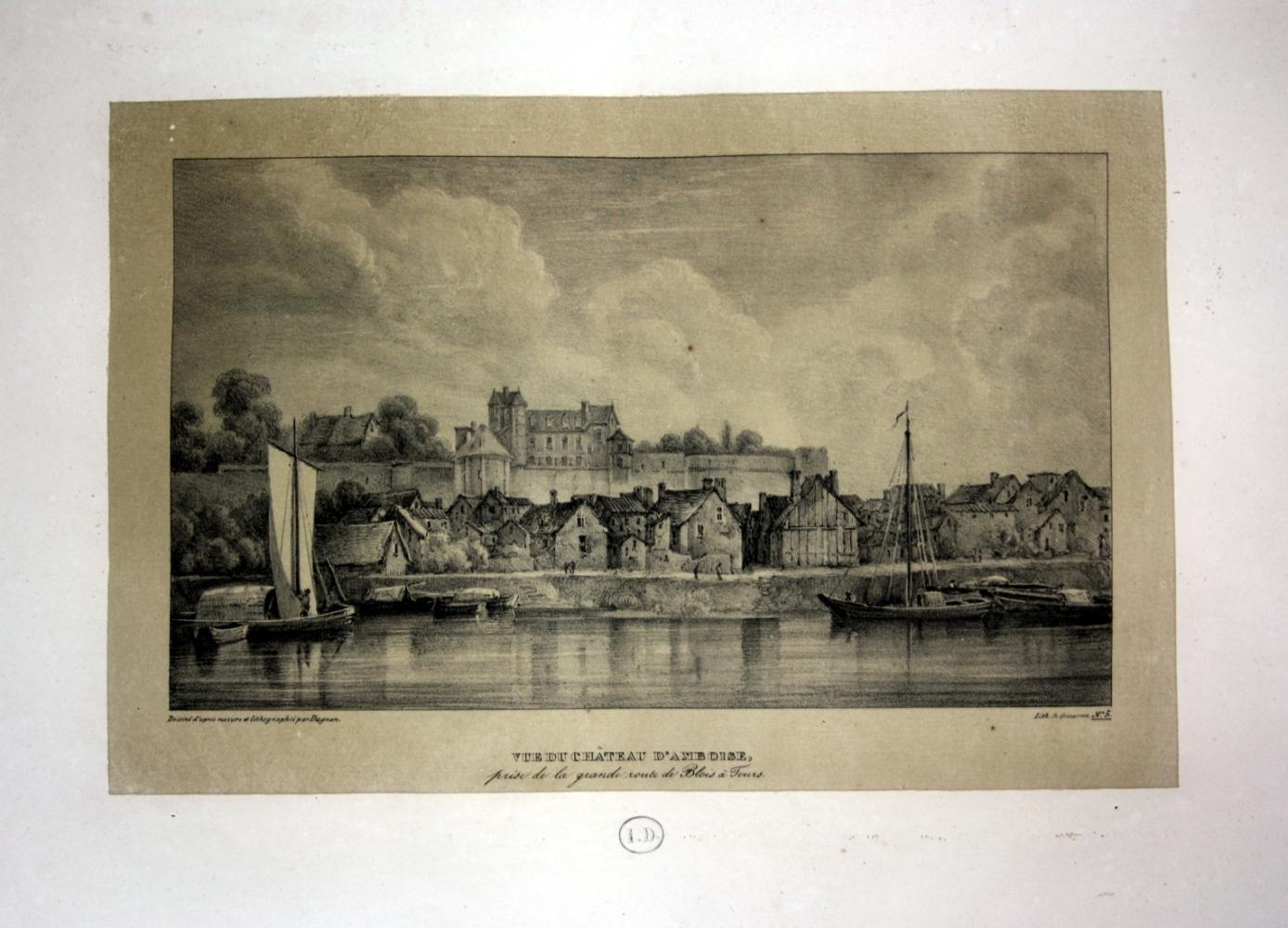 """Vue du Chateau d Amboise"""" - Chateau: Dagnan, Isodore:"""