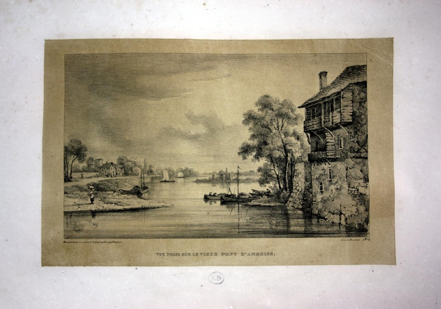 Vue prise sur le vieux Pont d: Dagnan, Isodore: