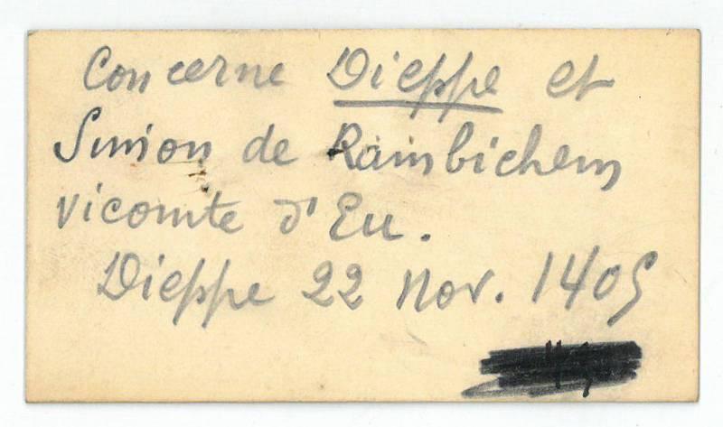 Eigenh. Visitenkarte (?).: Limburg-Stirum, Albert Comte