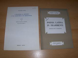 """2 TITELN v. G. CALBOLI : """"L`ORATORE: Calboli *, Gualtiero:"""