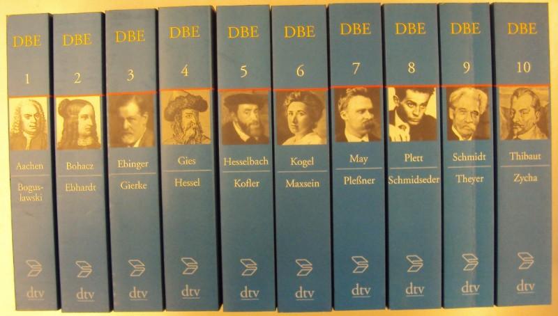 Deutsche Biographische Enzyklopädie (DBE). 10 Bände.: Killy, Walther (Hg.)