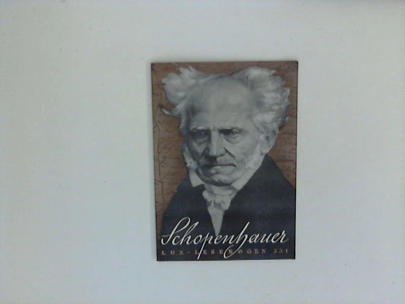 Schopenhauer : Ein Leben zwischen Weltvereinigung und: Hartmann, Hans: