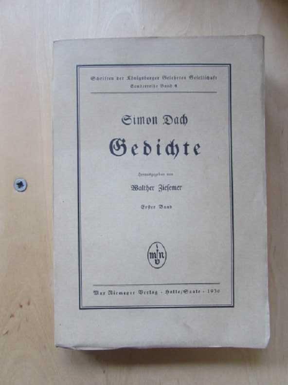 Schriften der koenigsberger Gelehrten Gesellschaft - Sonderreihe: Ziesemer, Walther und