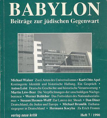 Babylon. Heft 7 / 1990. Beiträge zur: Brumlik, Micha (Hrsg.)