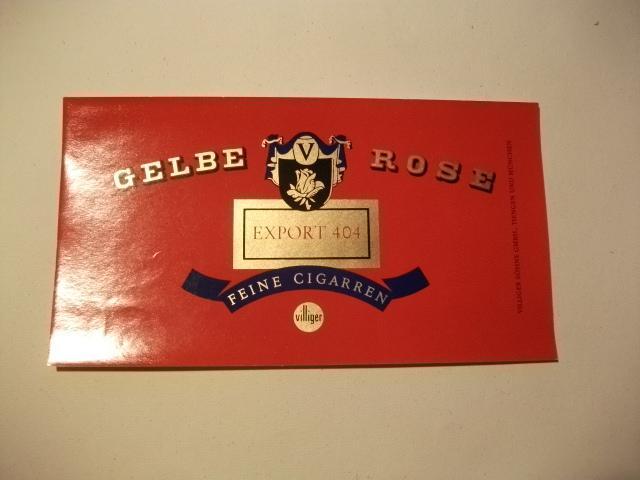 Gelbe Rose. Export 404. Feine Cigarren.: Tabak