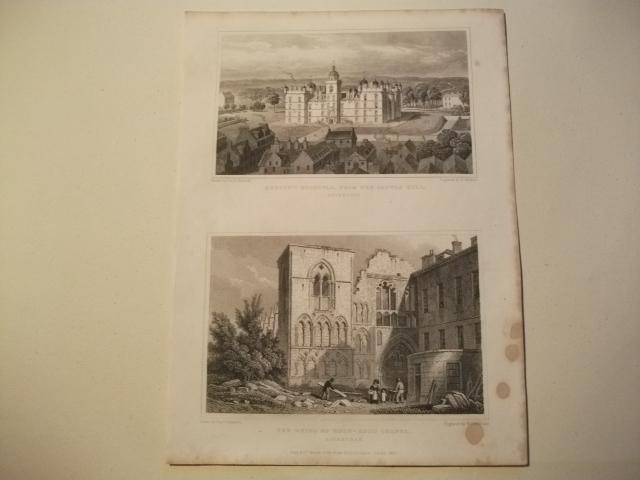 Heriot's Hospital, from the Castle Hill u.: England, Edinburgh.