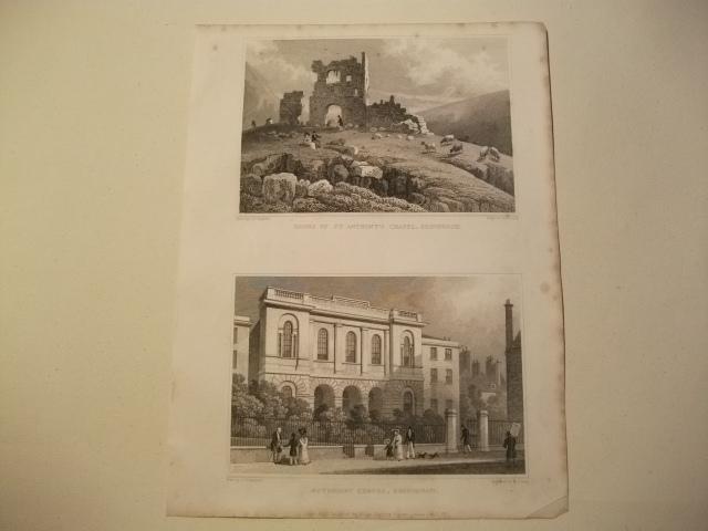 Ruins of St. Anthony's Chapel u. Methodist: England, Edinburgh.