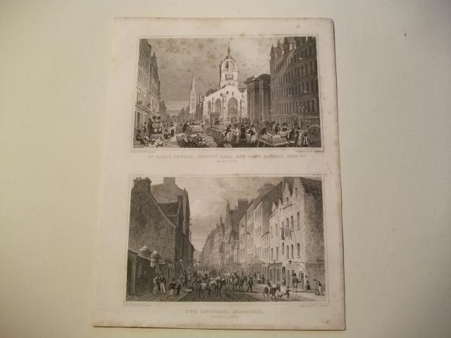 St. Gile's Church, County Hall, and Law: England, Edinburgh.