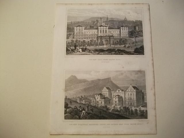 The New Jail, from Calton hill u.: England, Edinburgh.