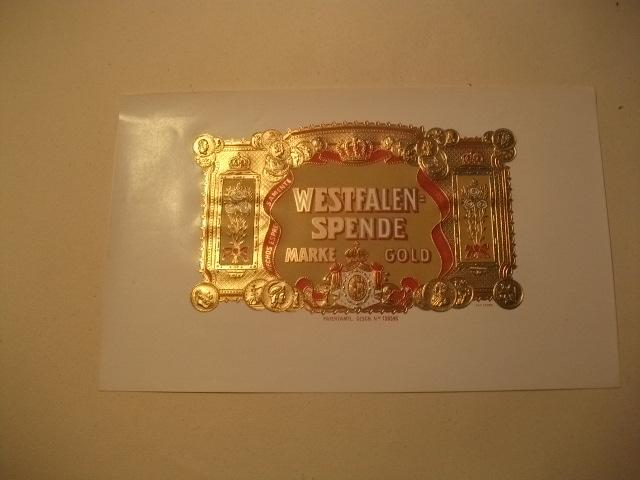 Westfalen -Spende. Marke Gold.: Tabak
