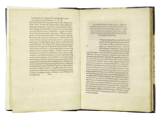 Epitoma rei militaris. Mit Widmungsbrief an Petrus: Vegetius Renatus, Flavius.