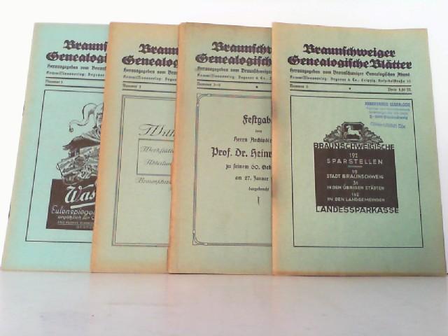 Braunschweiger Genealogische Blätter. Hier 6 Hefte in: Braunschweiger Genealogischer Abend: