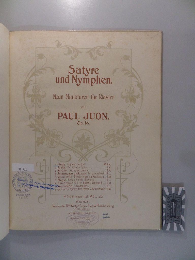 Satyre und Nymphen - Neun Miniaturen für: Juon, Paul: