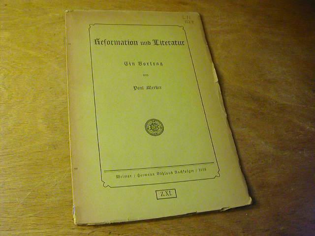 Reformation und Literatur. Ein Vortrag: Paul Merker