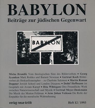 Babylon. Beiträge zur jüdischen Gegenwart. Heft 12,: Brumlik, Micha, Dan