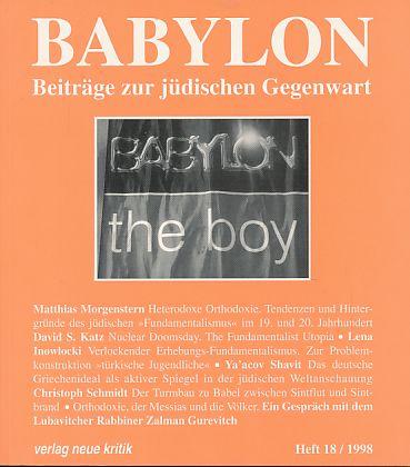 Babylon. Beiträge zur jüdischen Gegenwart. Heft 18,: Brumlik, Micha, Dan