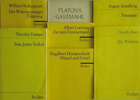 7 Reclam-Büchlein: Totentanz / Die Wildente /: Strindberg, August /