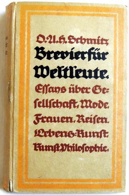 Brevier für Weltleute: Schmitz, Oscar A.