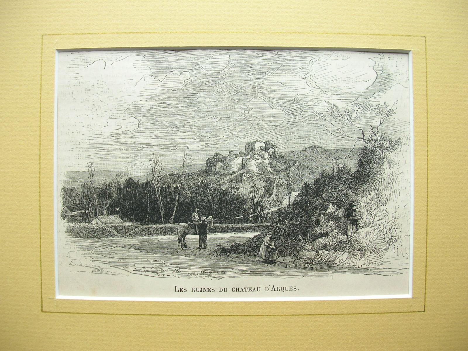 """Dieppe - """"Les Ruines du Chateau d'Arques"""": France, Frankreich)"""